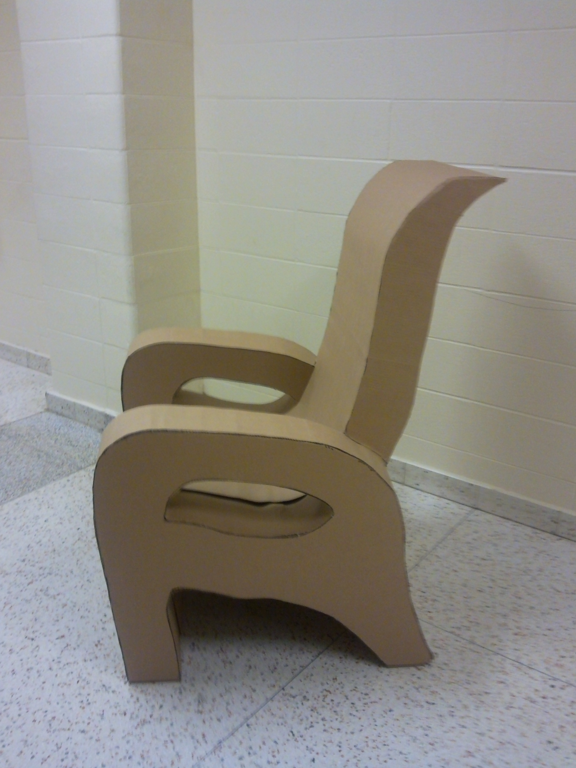 chair design model folding chairs and table cardboard chris choi