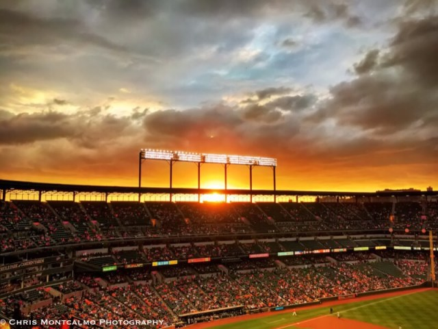 Sunset at Camden Yards
