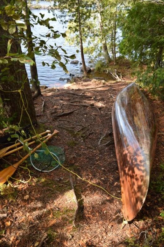 My Dad's vintage 1965 wood-strip canoe