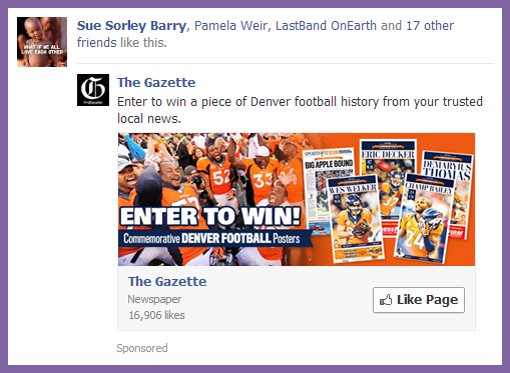 sponsored facebook