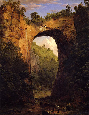 'The Natural Bridge, Virginia' by Frederic Edwin Church