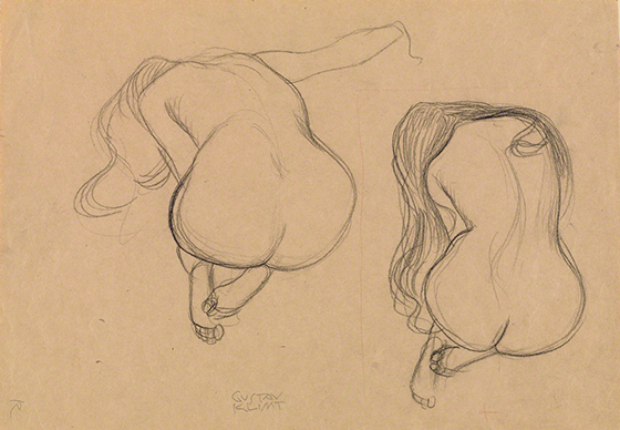 Study Of A Seated Nude From 'The Beethoven Frieze' by Gustav Klimt