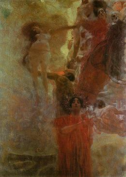 Oil Sketch for 'Medicine' by Gustav Klimt. [click to enlarge]