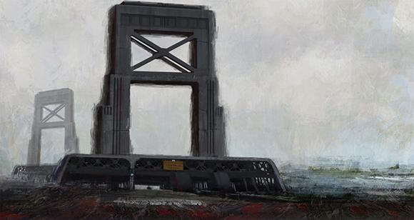 """Brooklyn 2089"" painting by Akiko Crawford"