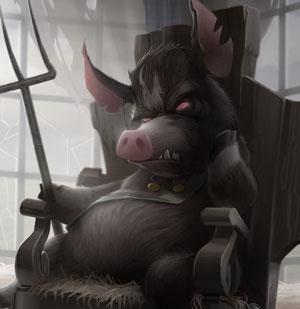 Detail image from Chris Oatley's 'Animal Farm' Digital Painting for Imagine FX.