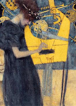 Detail from 'Music' by Gustav Klimt