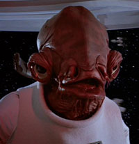 "Return Of The Jedi: Admiral Ackbar yells ""It's A Trap!"""