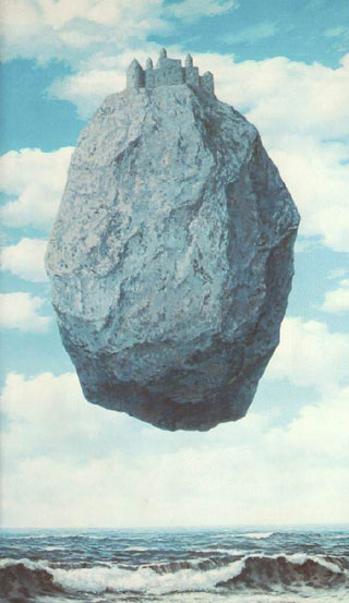 Castle In The Pyrenees by René Magritte