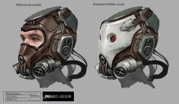 'Project Arbiter' Mask Design by Robert Simons
