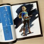 Princess Zelda Character Painting from 'The Legend of Zelda: Breath of The Wild.' Possibly by Takumi Wada. (Book does not credit artists for individual works.)