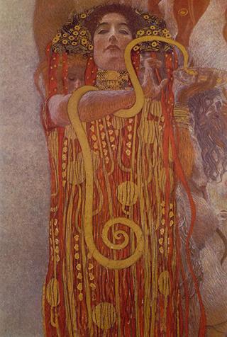 Detail of Hygieia from 'Medicine' by Gustav Klimt.