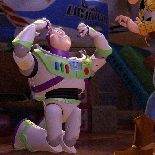 Buzz Lightyear thinks he can't breathe.