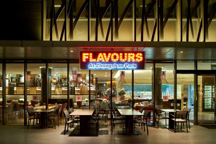 Interior Photography of the Ramada at Zhongshan Park Singapore Flavours Restaurant Exterior Photo