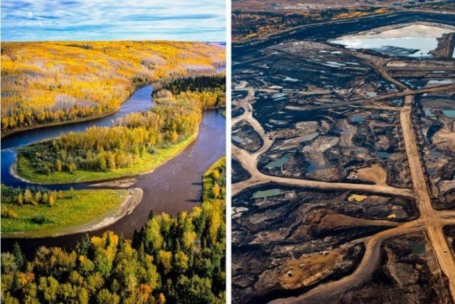 Tar sands before & after