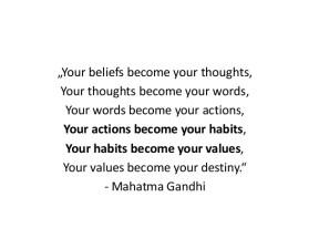 Ghandi your beliefs