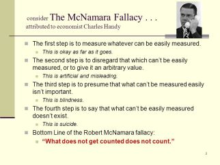 On Measurement - the McNamara Fallacy