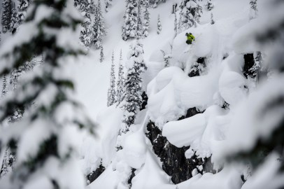 Coming over the edge of blind pillow lines is one of the most exciting thing you can do on skis