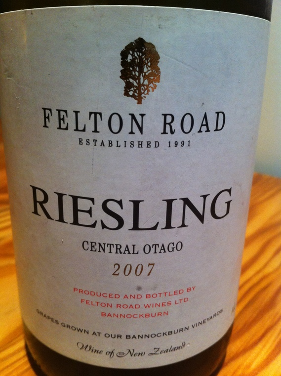 Felton Road Riesling 2007