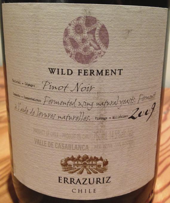 2009 Errazuriz Wild Ferment Pinot Noir