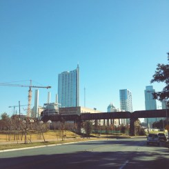 Day 7: My drive into Austin to scout out some local coffee shops with free wifi.