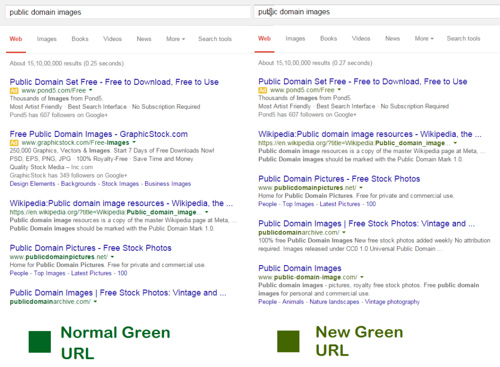 google-green-url