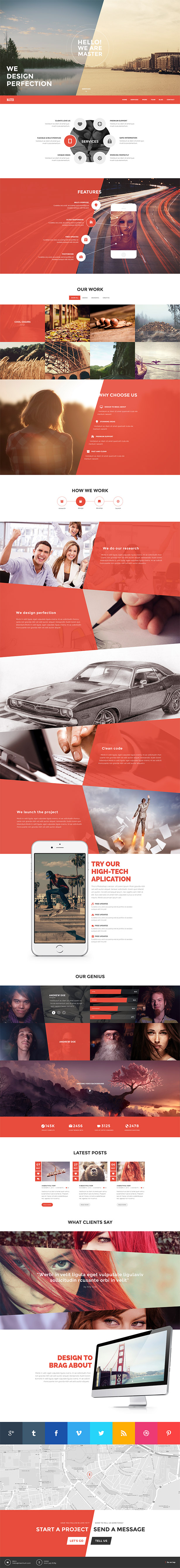 Plantilla One Page HTML
