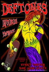 Deftones Incubus poster by Chris Shaw