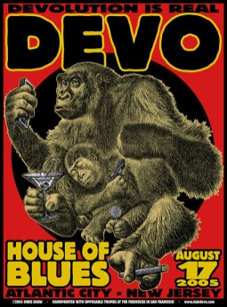 Devo poster by Chris Shaw