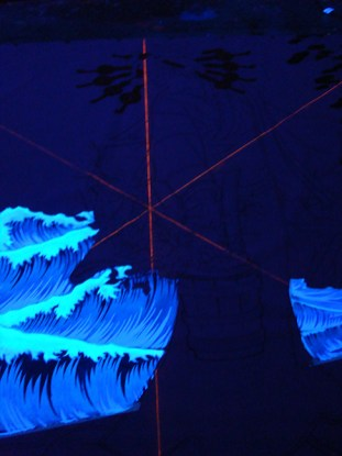 process picture of Madonna Fukushima - Geometrical under UV Light