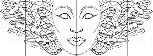 Center Gorgon sketch