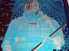 Public Enemy poster Chris Shaw - Dark Blue variant detail