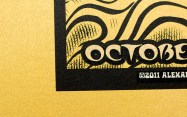 TRPS Festival of Rock Posters 2011 - Gold Variant, paper detail