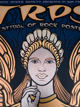 TRPS Festival of Rock Posters 2011 poster - Face detail