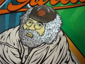 Moonalice San Francisco Giants Jerry Garcia 70th Birthday Celebration silkscreen poster close up 4