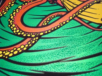 Snaphot of Soundgarden silkscreen poster by Chris Shaw (detail)