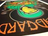 Snaphot of Soundgarden silkscreen poster by Chris Shaw (detail 2)