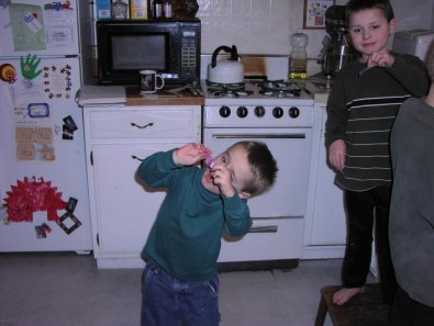 Showing off his culinary prowess at an early age