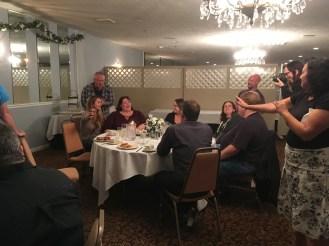 Speakers' dinner at WordCamp Rochester.