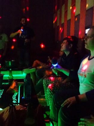 Karaoke in Durham last spring. You should see Cátia rock Billie Jean!