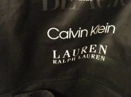 How funny is this? Calvin and Lauren highlighted on the garment bags from the tux rental place (CJ's real name is Calvin).
