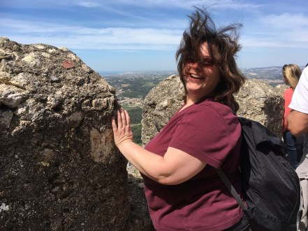 Lise enjoying the view of Sintra