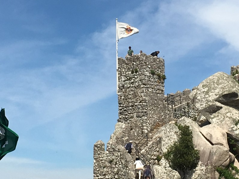 Chris on the lookout at the Moorish Castle