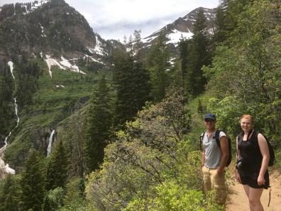 Chris, Lauren and Stewart Falls