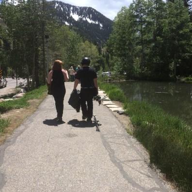 CJ and Lauren head home.