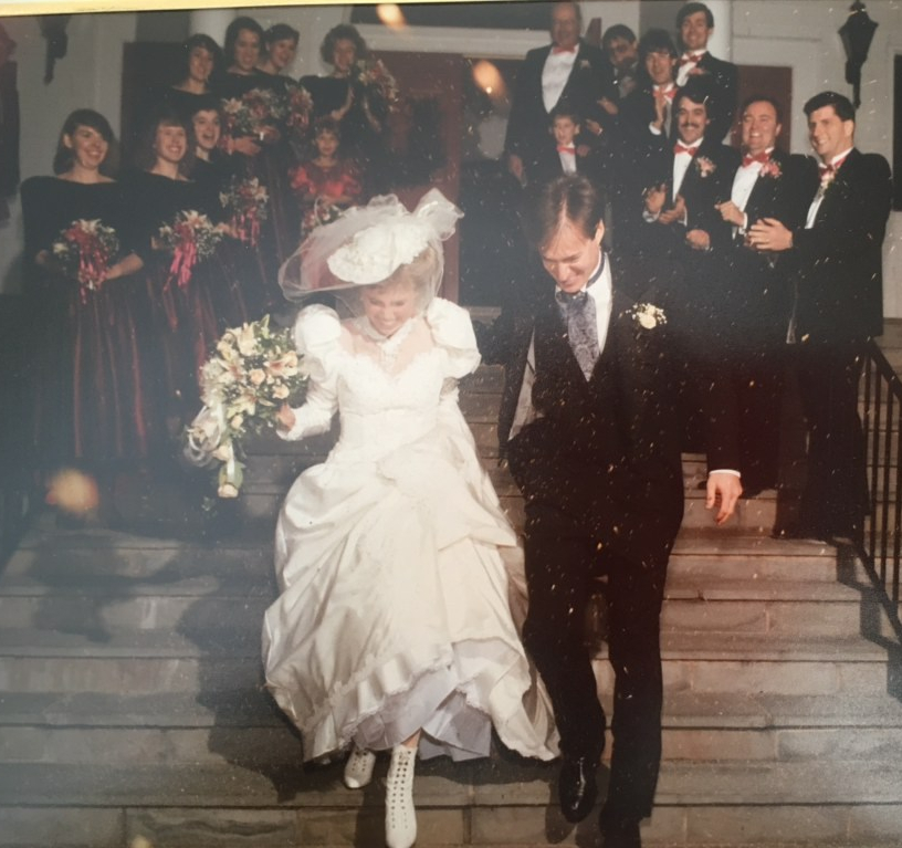 Our Wedding on December 28, 1991