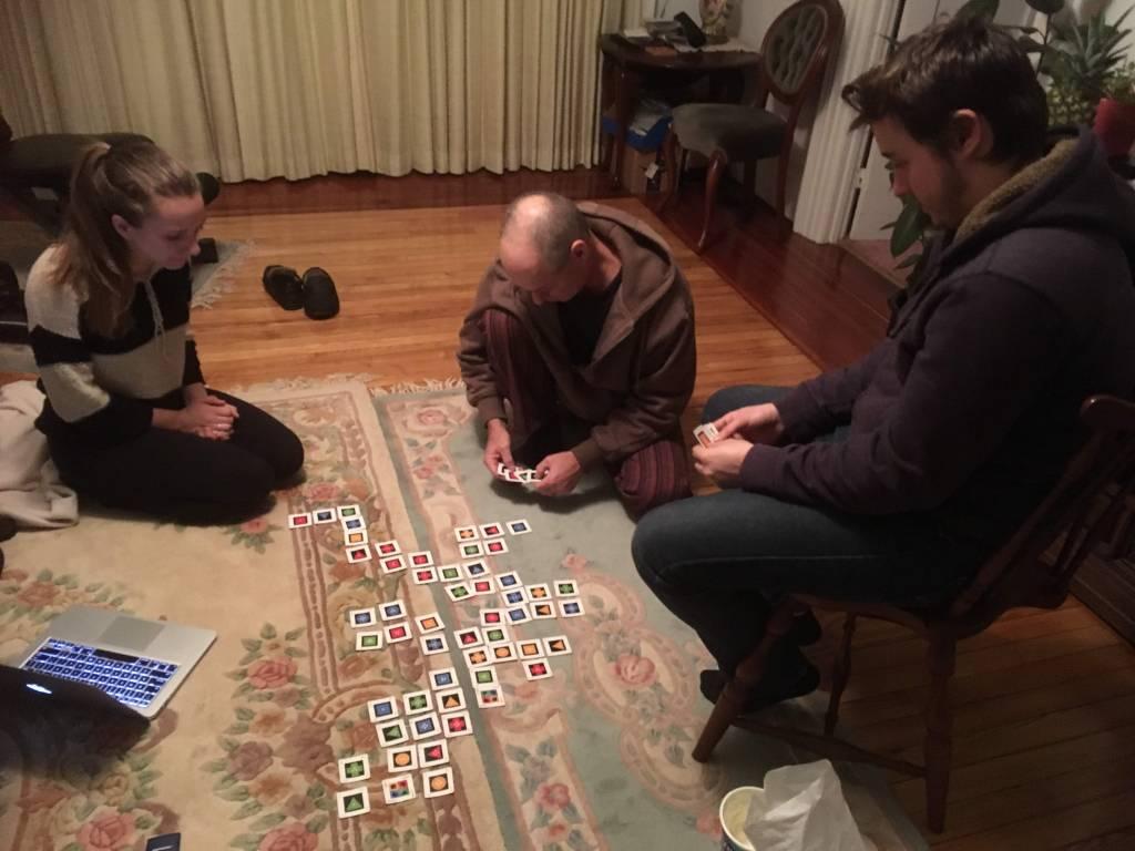 Mollie, Hudi, Chris (and me) playing Iota.