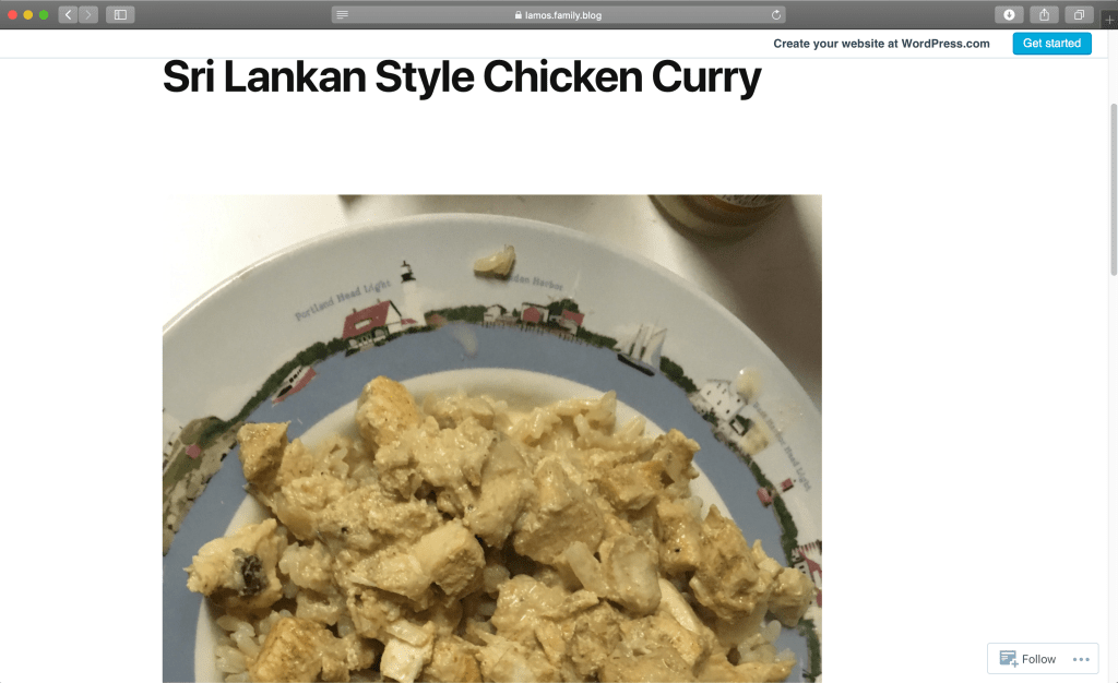 Picture of Curried Chicken