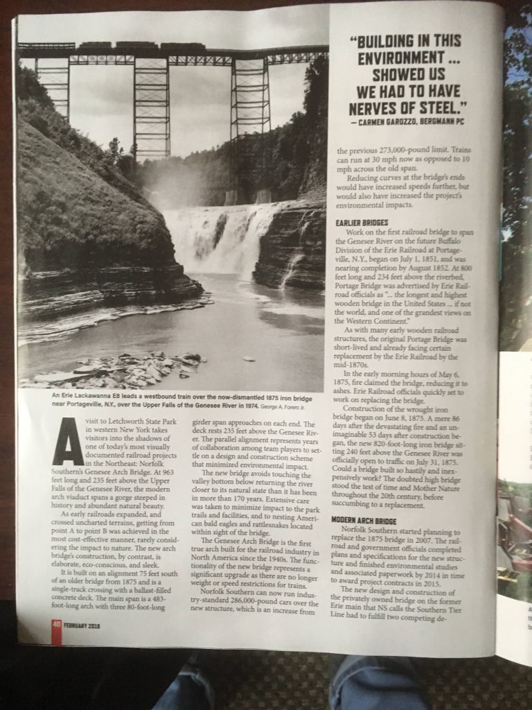 Train Article in Magazine