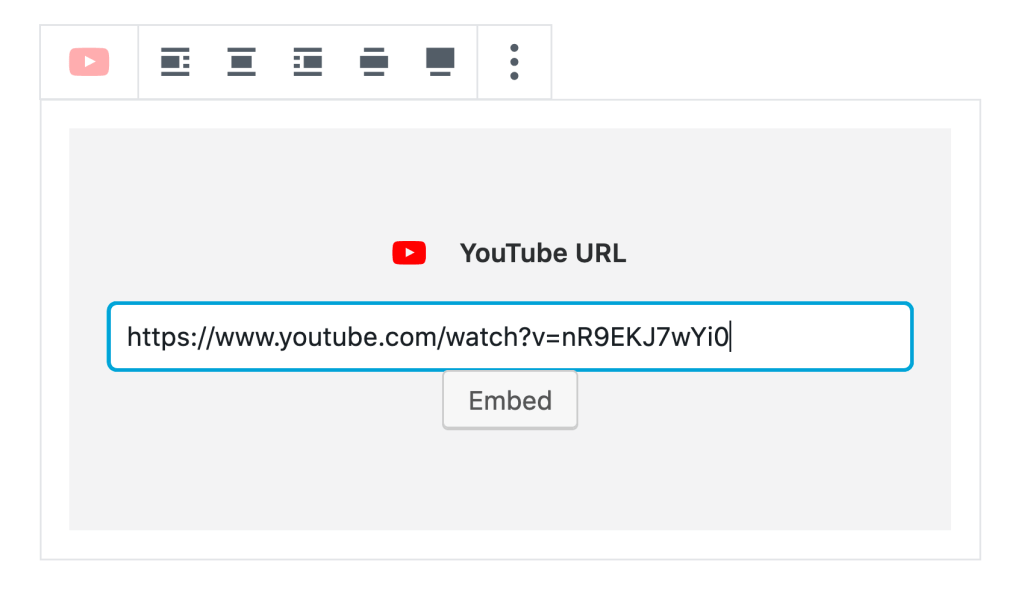 Image of YouTube block.