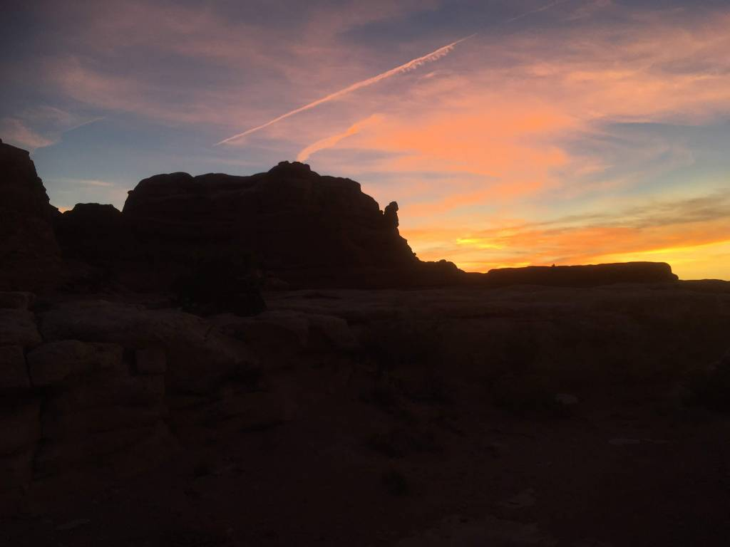 Summer sunset at Elephant rock in the Needles District - Moab, UT